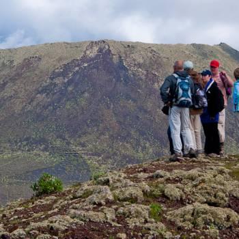 Wandelroute in het natuurpark van de vulkanen